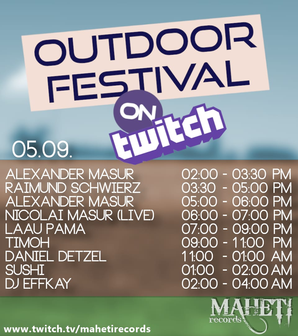 Line up Outdoor Festival 2020